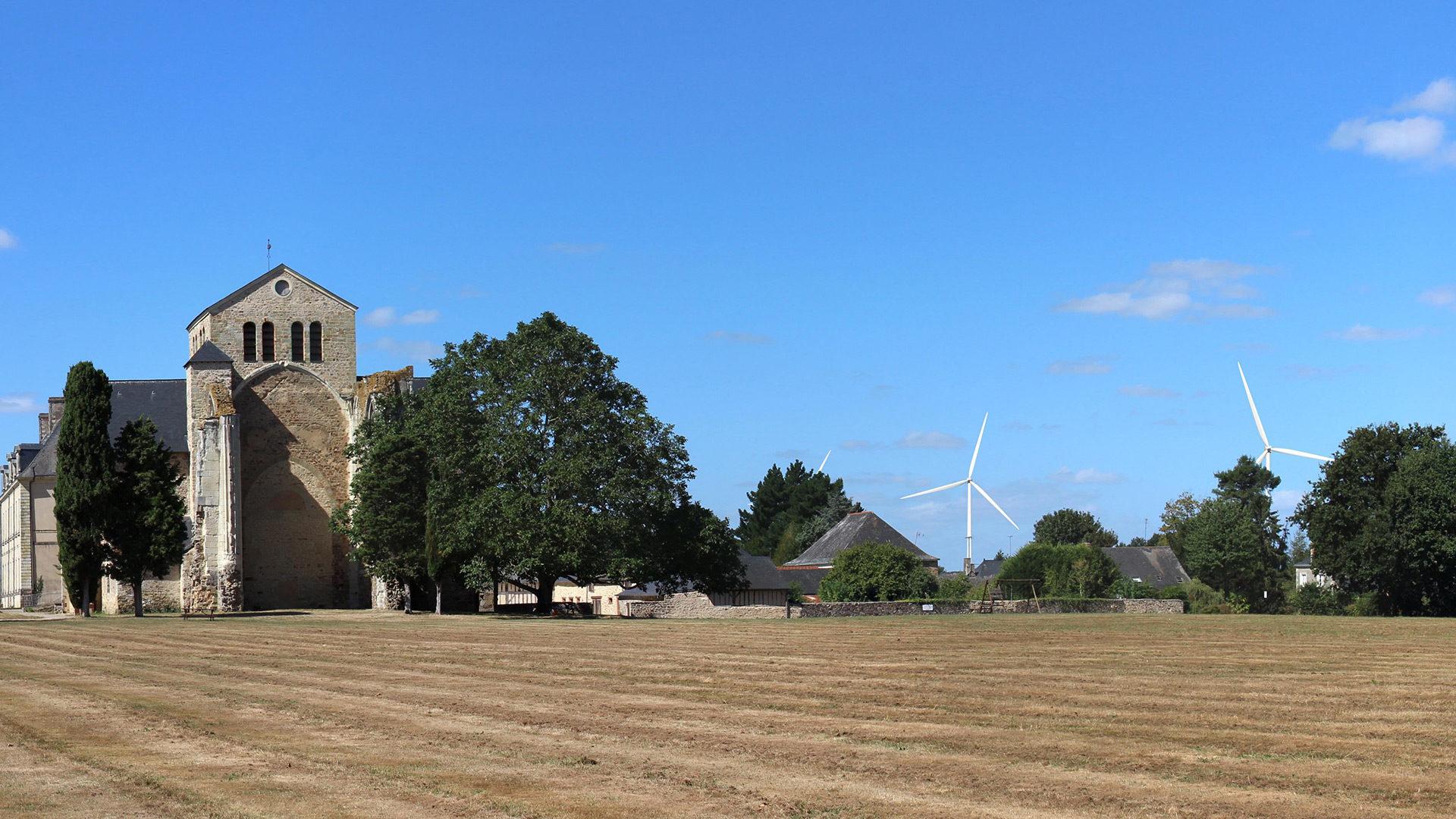 Photomontage du projet éolien de Rose des Vents à Fontaine-Couverte